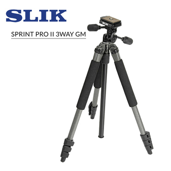《SLIK》Sprint Pro II 3 Way GM 附 SH-704E 三項雲台 鐵灰SLIK系列-9折