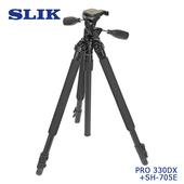《日本 SLIK》Pro 330 DX 附 SH-705E 三向雲台SLIK系列-9折