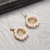 摩天輪珍珠耳環