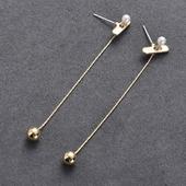 平行珍珠耳環