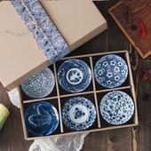 日式青花碗禮盒組 6入/組11.5X5.8cm $229