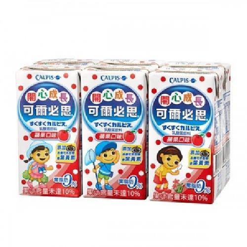 《可爾必思》開心成長蘋果乳酸菌飲料(160ml*6包/組)