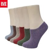 《BVD》懷舊細針低口直角女襪5雙組-B244(薰衣草*5雙)