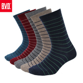 《BVD》細條紋男襪4雙組-B207(黑*4雙)