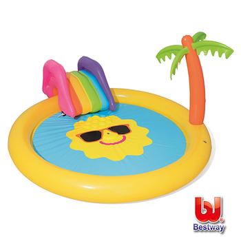 《Bestway》熱帶陽光島嶼充氣泳池(噴水池) 53071