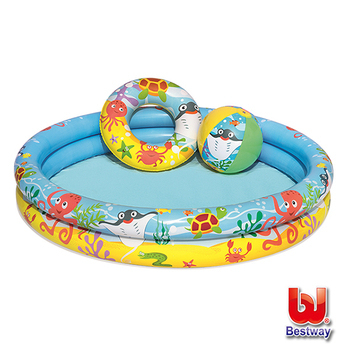 《Bestway》海底世界戲水泳池套裝組