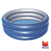 《Bestway》圓形金屬色系三層泳池-直徑201cm