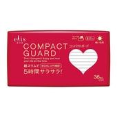 《日本大王》elis愛麗思 COMPACT GUARD GO可愛衛生棉-日用超薄17cm(36片)