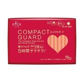 《日本大王》elis 愛麗思 COMPACT GUARD GO可愛衛生棉-日用超薄25cm(19片)