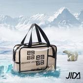 《韓版》360°耐磨防水厚款半透明盥洗包/化妝包(大) 29x21cm(白色)