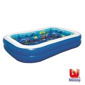 《Bestway》海底探險兒童趣味3D泳池附含2副3D泳鏡+裝飾寶石
