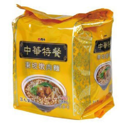 《維力》中華特餐袋麵-135g*3入/組(東坡燉肉)