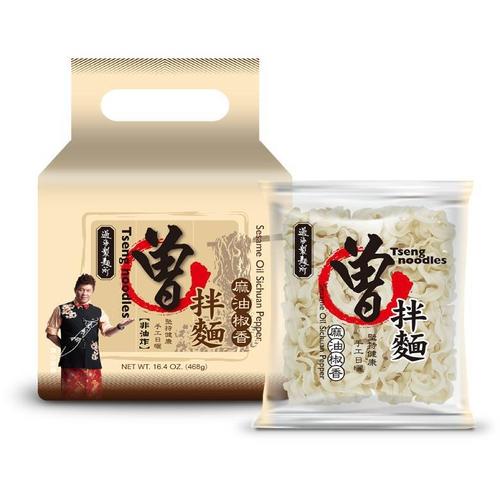 《曾拌麵》麻油椒香(素)(117gX4包)