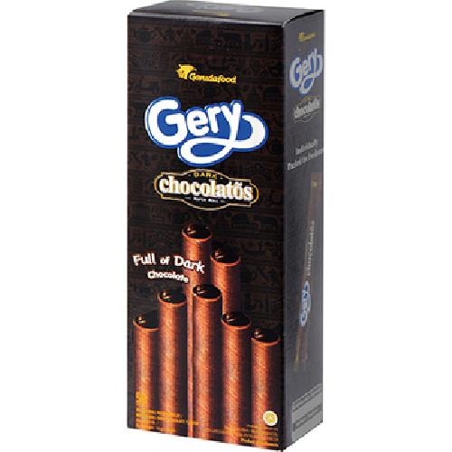 《Gery》捲心酥160g/盒(黑巧克力味)