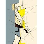 《晶瓷畫》抽象線條32HTJC(1)-A50X70X3.5cm $2200