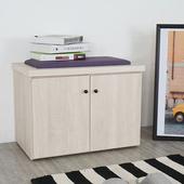 《Homelike》班森2尺坐式鞋櫃(白雪松)