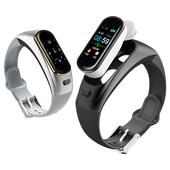SK29 心率檢測藍牙耳機運動智慧手環(黑色)