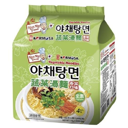 《KORMOSA》蔬菜湯麵-香菜口味(110g*4包/袋)