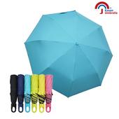 【Kasan晴雨傘】快收可扣式抗風防曬晴雨傘(水藍)