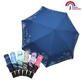 【Kasan 晴雨傘】貓頭鷹降溫黑膠自動晴雨傘(萬聖款)(深藍)