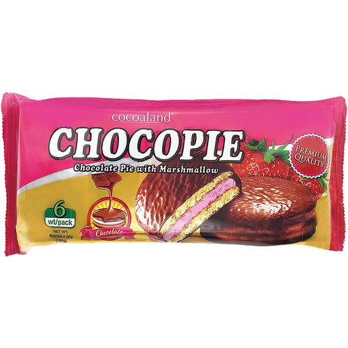 《Cocoaland》巧克力風味派-150G/包(草莓味)