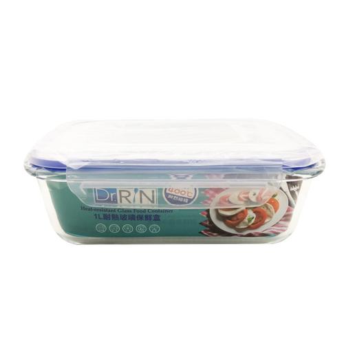 《Dr.RIN》耐熱玻璃保鮮盒(20.4x15.5x6.9cm / HSFL-1000/1L)