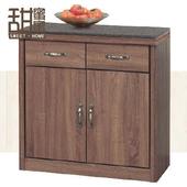《甜蜜蜜》布魯克柚木色2.7尺碗櫃下座/收納櫃