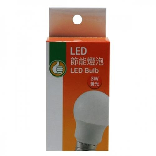 《FP》LED節能燈泡_黃光(3W / 100~240V)