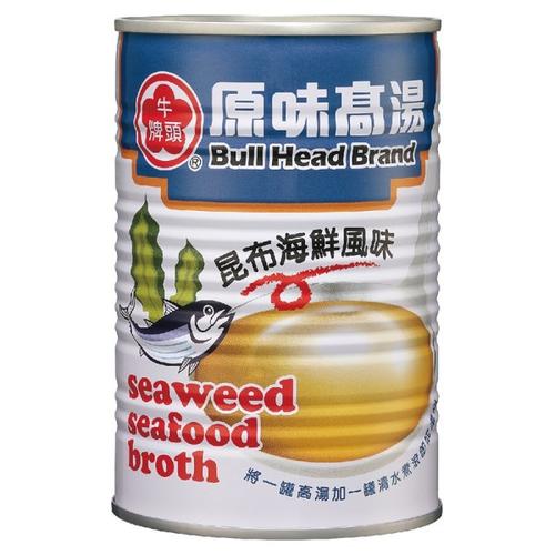 《牛頭牌》原味高湯-昆布海鮮風味(411ml)