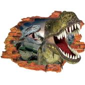 3D破牆恐龍壁貼
