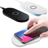 《IS愛思》Qi-P01 雙線圈10W快充Qi無線充電板(黑色)