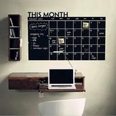 黑板行事曆創意壁貼