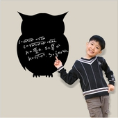 貓頭鷹黑板創意壁貼