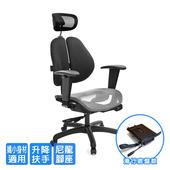 《GXG》GXG 高雙背網座 工學椅 (升降鋼板扶手)  TW-2806 EA8(素黑色)