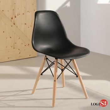 LOGIS邏爵- 摩登愛得拉餐椅  工作椅/休閒椅 書桌椅 北歐風 X804(黑)