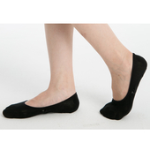 防黴一體成型超隱形襪-黑色