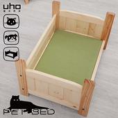 《【久澤木柞】》松木寵物床(綠色貓抓墊)