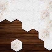 六角地壁兩用貼-5片入(20*23CM)
