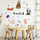 童話森林動物裝飾貼