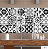 北歐風尚黑白個性磁磚貼(20x100cm)