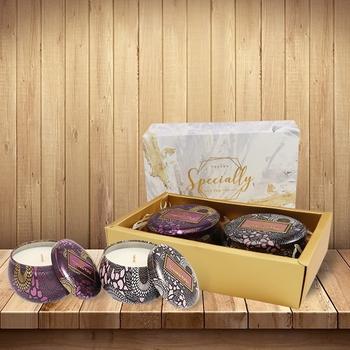 祕密花園香氛蠟燭禮盒(春日櫻茶+鼠尾草海鹽)