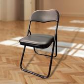 《免運》U購折合橋牌椅/會議椅/野餐椅/露營椅-黑色W480XD450XH780mm $459