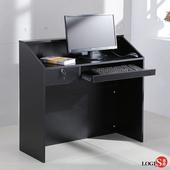 LOGIS 小型家用電腦桌 收銀桌 工作桌 辦公桌 櫃台 寫字桌 簡約桌 接待桌 會議桌 主管桌 小型吧臺【031-M】(黑)