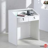 LOGIS 工作桌 簡約桌 電腦桌 商業桌 接待桌 會議桌 小型吧臺 收銀桌 【HD031】(黑)