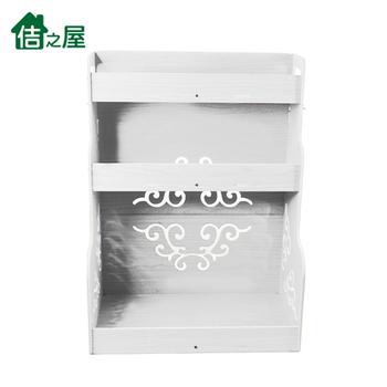 《佶之屋》5mmPVC木塑三層廚房落地收納/置物架(氣質白)