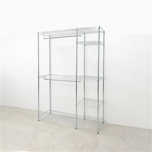 雙掛桿多功能衣櫥組(贈防塵套花樣隨機)(120x45x180cm/I-L-WA208)
