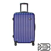 《BATOLON寶龍》【24吋】 時尚美型ABS硬殼拉鍊箱/行李箱(典雅藍)