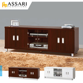 《ASSARI》凱文六門5尺電視櫃(寬161*深40*高51cm)(胡桃)