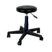 《IN 生活》吉爾皮面氣壓圓椅(黑)(黑色)