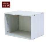《木森雅居》KIMORI S-Cabinet可堆疊收納櫃(木紋白款)